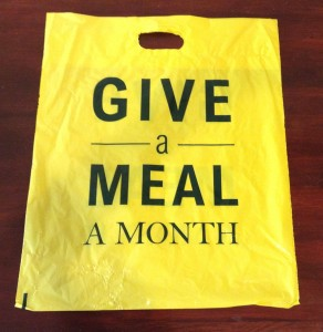 Give a Meal a Month Bag