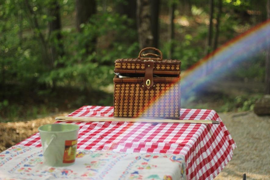 Picnic Basket with Rainbow
